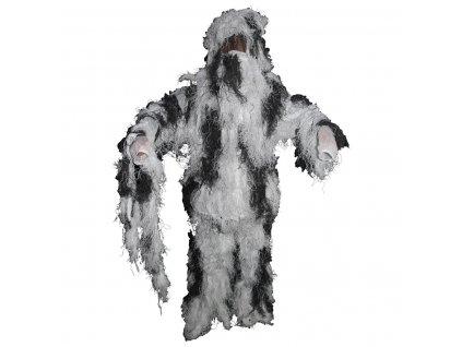 Maskovací oblek Hejkal (Ghillie Suit) sněžný 4-dílný