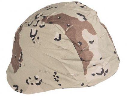 Potah (povlak,obal,převlek) US na kevlarovou helmu - desert 6 color originál