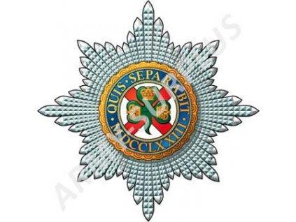 Odznak britský na baret Velká Británie Quis Separabit Irish Guards