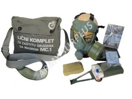 Plynová maska Srbsko M-1  typ US kompletní