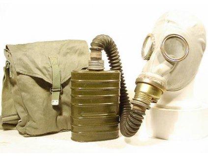 Plynová maska Polsko OM-14 Faser komplet