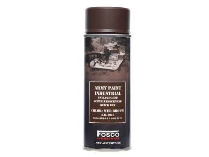 Barva ve spreji ARMY mud brown 400ml RAL 8027
