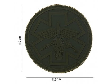 Nášivka 3D PVC Paramedic Emerson oliv