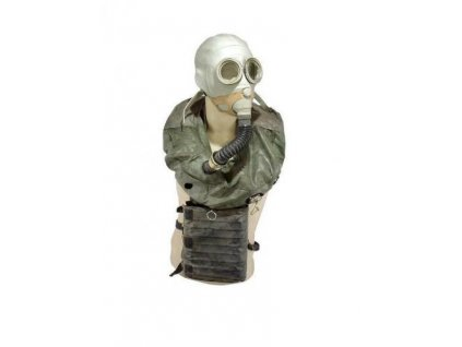 Plynová maska IP5 záchranná pro posádku tanku Rusko IP-5 bílá/šedá kompletní