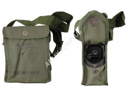 Polní telefon EE-8-B-GY  Signal Corps US Army WWII