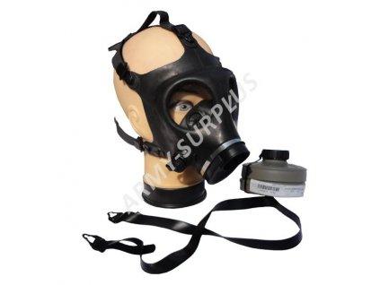 Plynová maska Izrael (Israel) Shalon M-84 s ventilem na pití