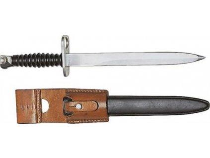 Bodák (bajonet) Švýcarsko SIG M57 kožený závěs originál