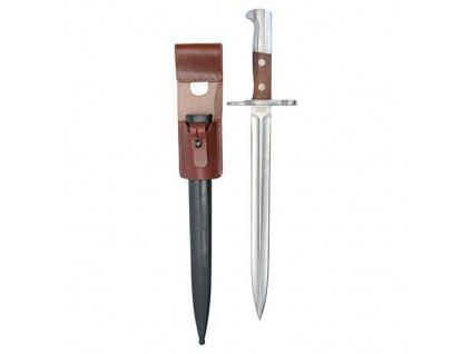 Bodák (bajonet) Švýcarsko originál K31 kožený závěs
