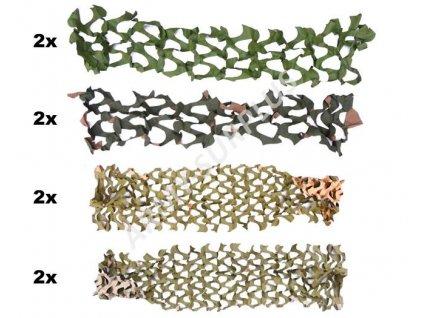 Sada maskovacích PVC sítí (na zamaskování zbraně, na vytvoření hejkala)