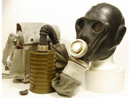 Plynová maska Rusko PRWU pro specialisty (raketové vojsko) černá