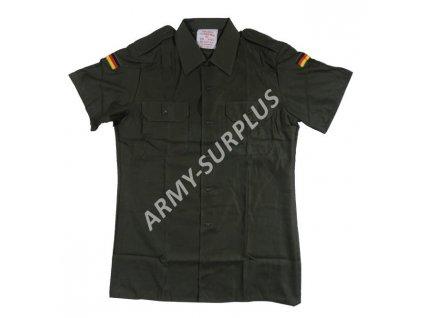 Košile BW (Bundeswehr) oliv krátký rukáv nová originál