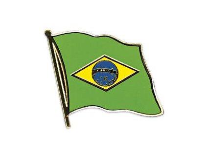 Odznak (pins) 20mm praporek Brazílie