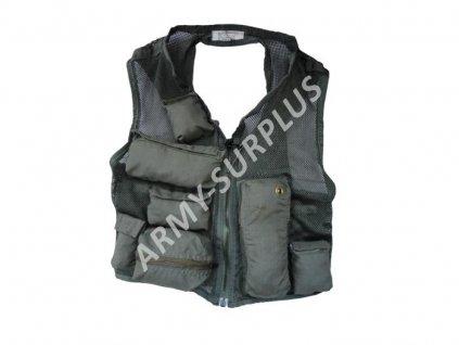Taktická survival vesta US SRU-21P foliage použitá
