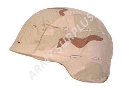 Potah (povlak,obal,převlek) US na kevlarovou helmu - desert 3 color originál