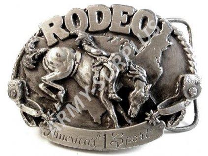 Přezka na opasek Western RODEO - starozinek B0968