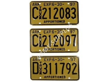 Poznávací značky na auto (License Plates) USA 1997