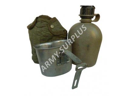 Polní láhev (čutora) US oliv Vietnam s pitítkem originál