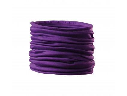 Nákrčník Twister lila (multifunkční šátek) fialoví