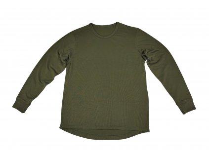 Tričko (triko) termo britské oliv dlouhý rukáv  Velká Británie originál