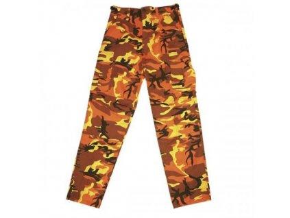 Kalhoty BDU camo orange MMB
