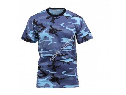 Tričko (triko) USA maskovací sky blue (skyblue)