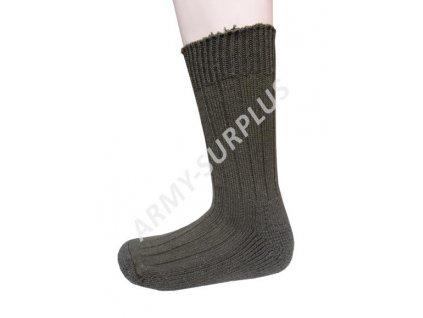 Ponožky termo zimní teplé vlněné oliv
