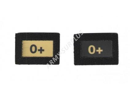 0+ Glind tape - označení krevní skupiny  ALP FENIX AC-139 velcro suchý zip