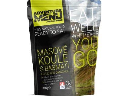 Adventure Menu Masové koule s basmati a rajskou omáčkou (hotová strava) 400g BEZ LEPKU