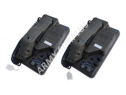 Polní telefon sada 2ks (field telephone) RA2000 Velká Británie originál