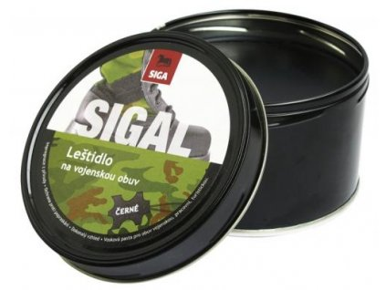 Leštidlo na obuv vojenské černé 250g krém SIGAL