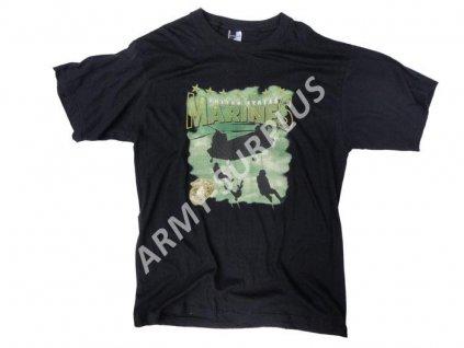Triko potisk Marines černé