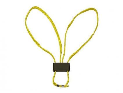 Pouta na ruce textilní HT-01 jednorázová žlutá