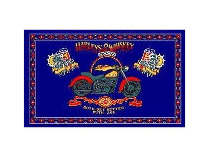 Vlajka 90x150cm Harley whiskey č.189