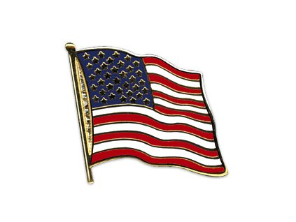 Odznak (pins) 20mm praporek USA