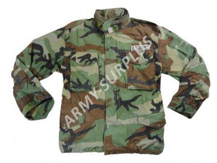Polní kabát,bunda (parka) M65 woodland original použitá