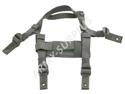 Čtyřbodový systém popruhů pro helmu MICH (ACH Helmet 4 Point ACU Chin Strap)
