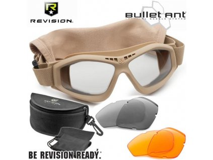 Brýle balistické REVISION bullet ant DELUXE KIT tactical  TAN desert coyote