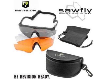 Brýle balistické REVISION Sawfly MaxWrap černé