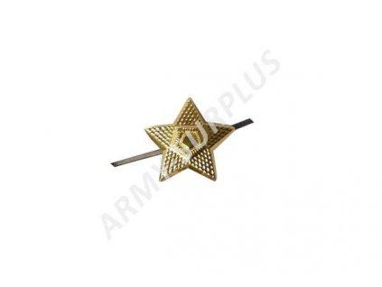 Odznak ČSLA hvězda zlatavá velká 22mm