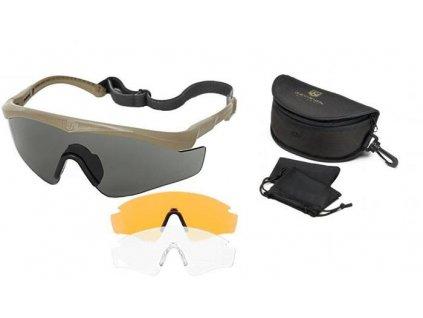 Brýle balistické REVISION Sawfly MaxWrap pískové coyote