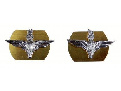 Odznak Parachute Regiment Collar Velká Británie originál límcové 1 pár