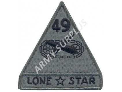 "Nášivka US 49th Armored Division""Lone Star"" - Shoulder Sleeve Foliage Green velcro"