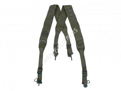 Kšandy treky US M45 oliv originál Experimental Suspender pack field 1951