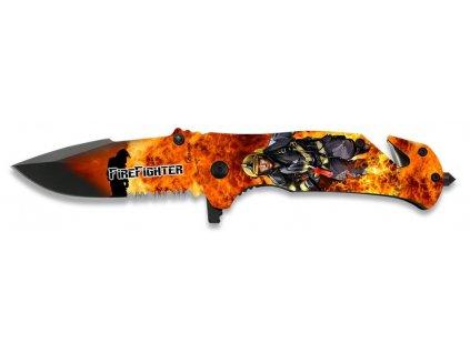 Nůž zavírací záchranář Hasič 3D polovystřelovací ALBAINOX  18137-A
