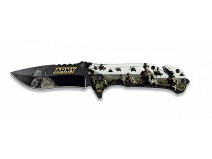 Nůž zavírací záchranář US ARMY 3D polovystřelovací ALBAINOX  18132-A