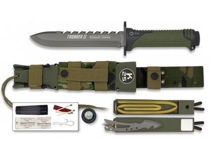 Nůž Tactical RUI Thunder II Survival Energy oliv digital woodland 32134