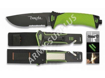 Nůž Albainox 32100 survival zelený s plastovým pouzdrem
