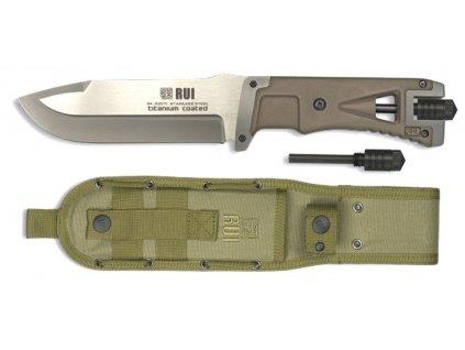 Nůž Tactical RUI s křesadlem 32071 coyote