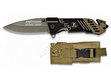 Nůž zavírací RUI 19548 Titanium Amphion záchranář coyote K25