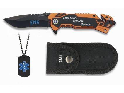 Nůž zavírací Albainox 19432 EMS (Emergency Medical Services) záchranář + Dog Tag